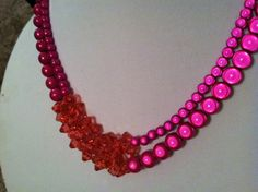 Miracle beads necklace double strand with pink by LuminaryJewelry, $70.00