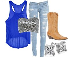 """Country Summer Fling"" by small-town-country-gurl on Polyvore"