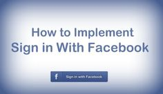 How to implement Sign in with Facebook