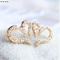 Cheap Envío gratis $10 ( orden de la mezcla ) nueva moda Vintage plateado pequeño amor de diamantes de imitación aretes de diamantes E611, Compro Calidad Pendientes Cortos directamente de los surtidores de China:             Tamaño: 1.5*1.5 cm                                             Peso               2G
