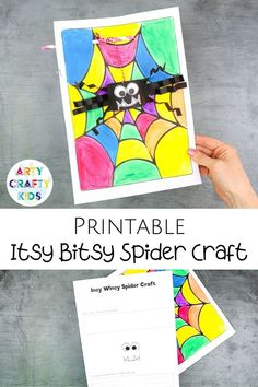 Looking for Incy Wincy Spider crafts for kids to make at home or school? This preschool Itsy Bitsy Spider craft for kids is cute   easy for preschoolers to make with our printable craft template. Get the printable Itsy Bitsy Spider craft template   other easy preschool crafts for kids here! Incy Wincy Craft Ideas | Preschool Itsy Bitsy Spider Craft with Straw | Incy Wincy Craft for Toddlers | Preschool Halloween Crafts for Kids | Halloween Crafts for Preschoolers #preschool