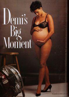 Pregnant fair vanity moore cover demi