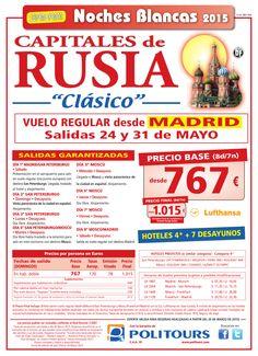 """Cap. de RUSIA """"Clásico"""" Noches Blancas, sal. 24 y 31 de Mayo dsd Madrid (8d/7n) p. final dsd 1.015€ ultimo minuto - http://zocotours.com/cap-de-rusia-clasico-noches-blancas-sal-24-y-31-de-mayo-dsd-madrid-8d7n-p-final-dsd-1-015e-ultimo-minuto/"""