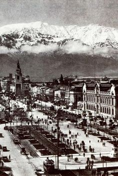 Santiago in 1930. Chile.