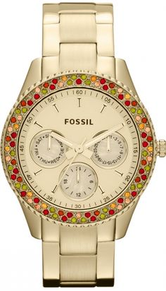 Fossil #ES3201 Stella Stainless Steel Watch Gold-Tone