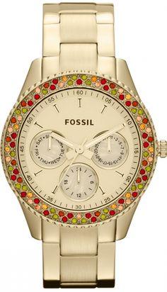 Capri Jewelers Arizona  ~ www.caprijewelersaz.com Fossil #ES3201 Stella Stainless Steel Watch Gold-Tone