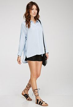 Oversized Collared Shirt   Forever 21 Canada