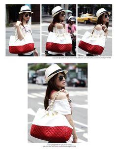 R350...casual shoulder bag Clutch Bag, Crossbody Bag, Tote Bag, Leather Handbags, Ideias Fashion, Red And White, Purses, Shenzhen China, Lady