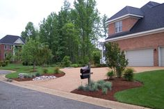 Landscaping Along Driveway Design Ideas Garden Yard