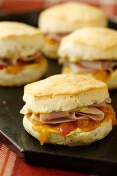 Paula Deen's Ham and Chutney Hungry Brothers Biscuits