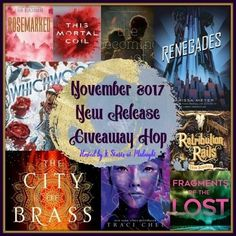 Enter this giveaway for a chance to win books released in November 2017 of your choice worth $22. Good luck!      a Rafflecopter givea...