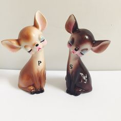 Vintage fawn S&P shakers