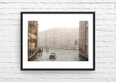 Travel Wall Art, Venice Canals, Foggy Morning, Wall Prints, Wall Decor, Italy, Photography, Painting, Wall Hanging Decor