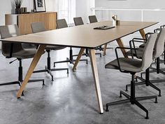The Cabale conference table is very simplistic with an elegant tabletop. Meeting Table, Conference Table, Elegant, Furniture, Design, Home Decor, Classy, Interior Design, Design Comics