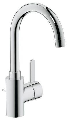 Kromin värinen korkea pesuallashana Grohe Eurosmart Cosmopolitan sisältää ylivertaista Grohe-teknologiaa. Tilaa modernin kylpyhuoneen varusteet Taloon.comista!
