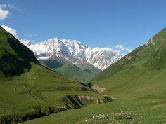 Caucasus Mountains near Tblisi, Georgia.