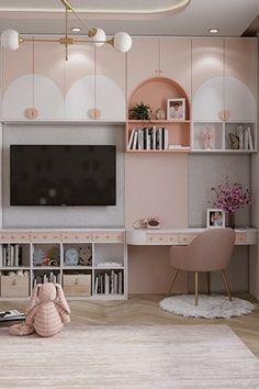 Room Design Bedroom, Girl Bedroom Designs, Home Room Design, Kids Room Design, Girls Bedroom, Bedroom Decor, Cool Kids Bedrooms, Cute Bedroom Ideas, Modern Kids Bedroom