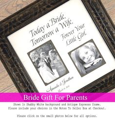 Personalized Picture Frame Father of the by PhotoFrameOriginals
