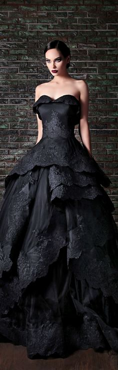 Rami Kadi ● Couture FW 2013-2014-could be a great black song dress