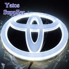 2011 toyota prius tail lights | 4D 12CM*8CM LED Light Truck LOGO Emblem Tail Car Badge Lamp for TOYOTA ...