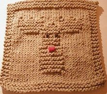 Reindeer Dishcloth Pattern-Free
