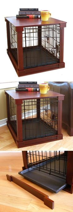 Large cage with crate cover - A Solid Crate Cover that comes with metal crate turning the crate into a functional table surface, while its original structure is kept intact to keep the pet confined.