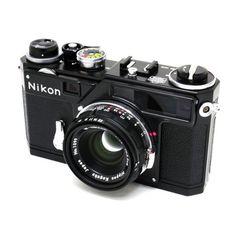 Nikon Nippon SP Black RF camera w/ W Nikkor-C lens Yr 2005 limited Antique Cameras, Old Cameras, Vintage Cameras, Nikon Film Camera, Nikon 35mm, Photo Lens, Classic Camera, Rangefinder Camera, Photography Camera