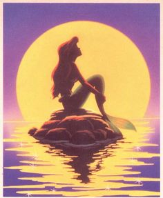 """this is my most favorite """"The Little Mermaid"""" movie poster. not my most favorite mermaid, but for Ariel its my most favorite image of her."""