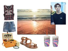 """""""Picnic date with Jungkook"""" by mariacristina-iii ❤ liked on Polyvore featuring Pieces, Picnic at Ascot, Filles à papa and Steve Madden"""