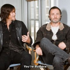 """bethkinneysings: """" """"'Which show should Rick and Daryl cross over to?' """" """""""