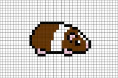 Guinea Pig Pixel Art The guinea pig, also called guinea pig or domestic guinea pig, is a rodent from the Caviidae family Tiny Cross Stitch, Cross Stitch Animals, Cross Stitch Designs, Cross Stitch Embroidery, Cross Stitch Patterns, Easy Perler Bead Patterns, Diy Perler Beads, Perler Bead Art, Easy Pixel Art