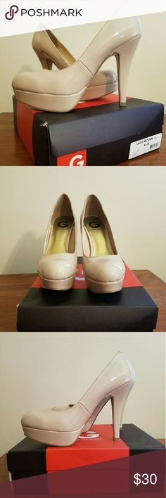 Guess Platforms Brand new, never worn. Guess Platforms.  Great light natural color that can be worn with everything . Guess Shoes Platforms