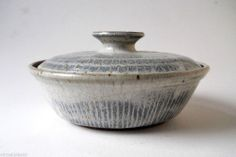 Vintage Ralph & Lorene Spencer NW Studio Pottery Stoneware Lidded Casserole