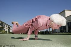 From the original article. Bette Calman, age 83 in 2009. WOW! I'm half her age and there's no way I could do that!!!