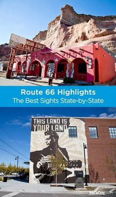 Learn about the Route 66 highlights in each of the eight states it passes through, plus notable stretches of still-drivable Mother Road, from Illinois to California for an epic road trip. Route 66 Attractions, Route 66 Road Trip, Travel Route, Road Trip Usa, Travel Usa, Driving Route 66, Vacation Travel, Vacation Places, Vacation Trips