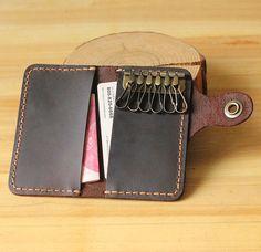 Key case/Card wallets / credit card holder / leather wallet / slim minimalist / modern design / distressed leather by sevenline on Etsy https://www.etsy.com/listing/219246042/key-casecard-wallets-credit-card-holder