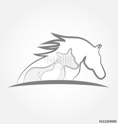 Vector: Logo horse cat and dog