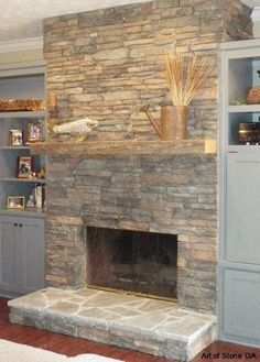 natural stacked stone veneer fireplace interior fireplace with stone veneer and natural stone hearth - Fireplace With Stone Veneer