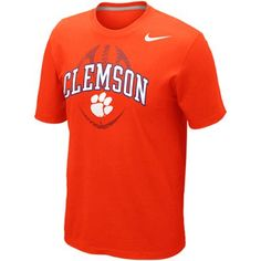 Nike Clemson Tigers Football Team Issue T-Shirt - Orange