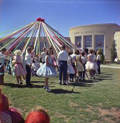 Debbie's 3rd Grade May Day; 1960. Remember the May pole dance!!