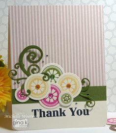 Card using Simple Flowers and Simple Hearts designed by Michelle Woerner.