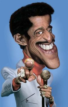 Sammy Davis Jr By besikdug | Famous People Cartoon | TOONPOOL