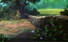 Animation Backgrounds: THE FOX AND THE HOUND