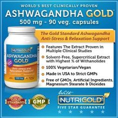 Ashwagandha Extract, 500 mg, 90 Vegetarian Capsules (The Gold Standard, Clinically-Proven, World's Best Ashwagandha)