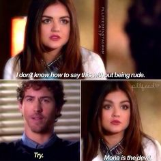 Lets hope Aria isnt going to have ANOTHER fling with a teacher. Three strikes your out....  Im about ready to turn the tv if there is another flippin teacher