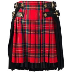 FAUSTO PUGLISI tartan kilt (20.763.925 VND) ❤ liked on Polyvore featuring skirts, bottoms, red plaid skirt, red wool skirt, red high waisted skirt, wool plaid skirt and wool skirt