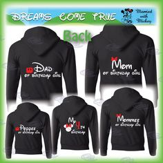 set of 6 shirts family disney trip matching by MarriedWithMickey