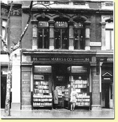 The real Marks & Co. Bookshop from 84 Charing Cross Road