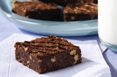 These luscious brownies have melted semi-sweet chocolate in the batter and drizzled over the top. Whip some up for dessert or a lunch-box treat.