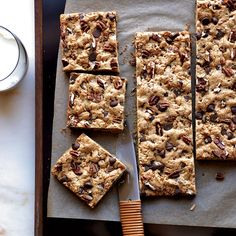 Feel free to swap walnuts or almonds for the pecans, or use half nuts and half dried cranberries for tart, chewy bars.